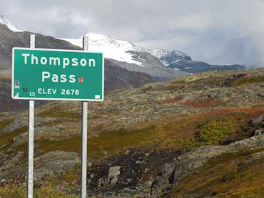 Thompson Pass on the way to Valdez